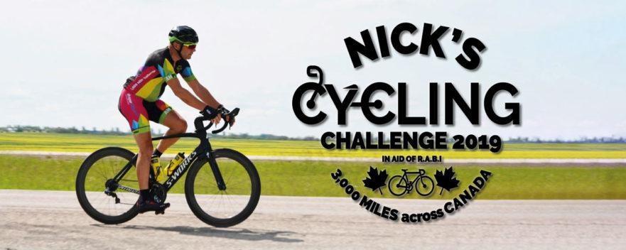 Nick's Cycling Challenge Blog Banner