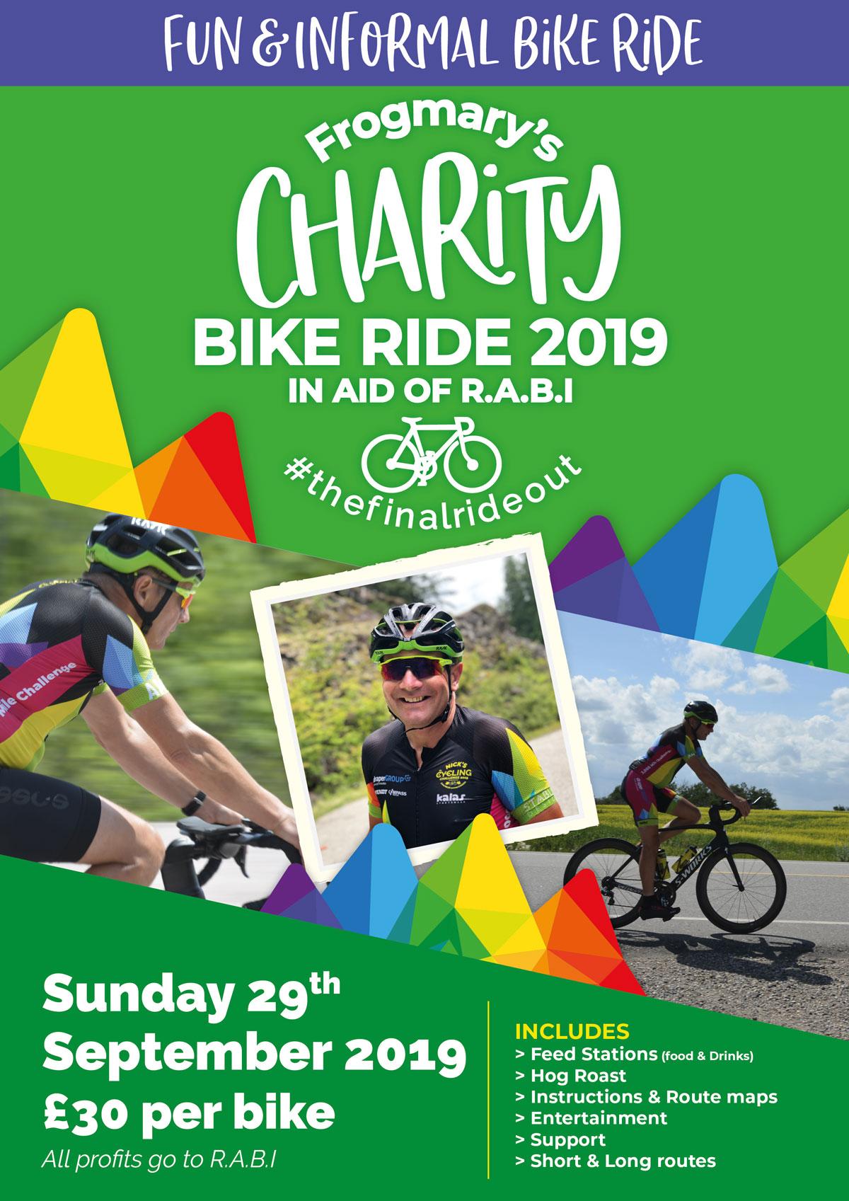 Nick's Cycling Challenge Charity Bike Ride